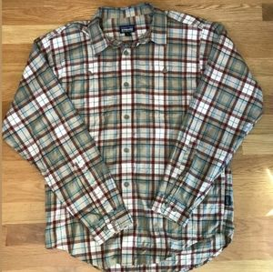 PATAGONIA Small Organic Pima Cotton Plaid Shirt
